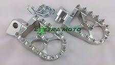 pedane maggiorate pedane e poggiapiedi in argento per moto ktm ebay