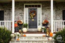 Fall Decorated Porches - exterior cool picture of front porch decoration using aged light