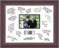 personalized wedding autograph frame autograph frames event frames and gifts church hill classics