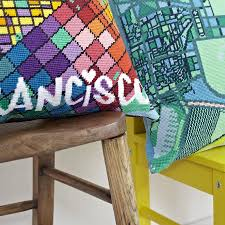 Map Tapestry Contemporary San Francisco City Map Tapestry Kit By Hannah Bass