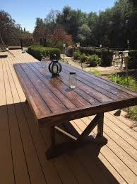 Diy Patio Table Diy Large Outdoor Dining Table Outdoor Dining Backyard And Patios