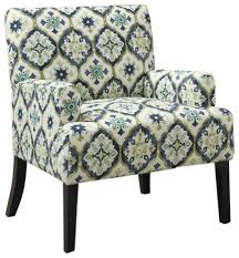 Green Accent Chair Wonderful Blue Green Accent Chair Coaster Geometric Pattern Accent