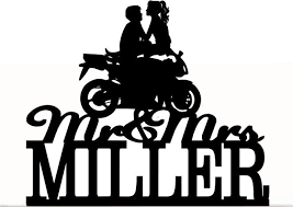 motorcycle wedding cake topper custom wedding cake topper mr and mrs with your last name a