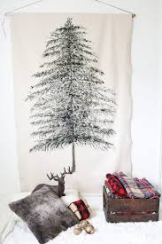 diy festive tree wall hanging shelterness