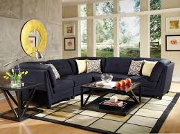 Navy Blue Sofa Set Blue Sectional Sofas Hmmi Us