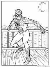 spider man coloring pages amazing spidey weaving