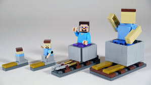 how to build lego minecraft minecart u0026 rails youtube