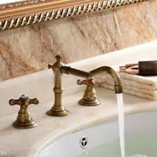Wholesale Antique Brass Bathroom Faucet Buy Cheap Antique Brass - Faucet sets bathroom
