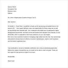 sle sponsor thank you letter 26 documents in pdf