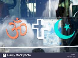 Green Flag With Star And Moon Om Cross Moon And Star The Religious Symbol Hindu Christian