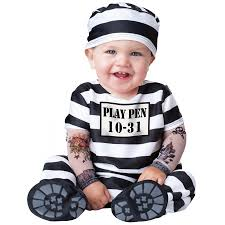 Bandit Halloween Costume Baby Prisoner Economical Costume Cheap Halloween Costumes