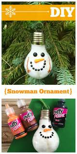 this diy snowman ornament is a great addition to any tree
