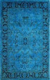 Peacock Blue Rug Rugs Usa Reclaimed Vintage Sabiha Overdye Blue Rug Overdyed