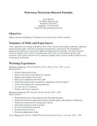 pharmacy technician intern resume sample pharmacist writing tips