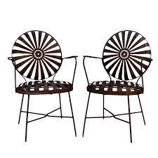 Garden Chairs Png Francois Carre Iron Sunburst Garden Chairs A Pair Chairish