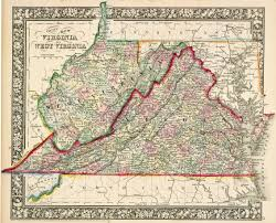 Map Of Northern Virginia Lincoln Signs Proclamation Admitting New State Of West Virginia