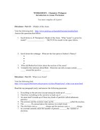 Bill Nye Matter Worksheet Chemistry Webquest 1 Introduction To Atoms Worksheet