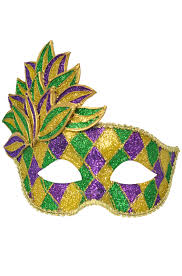 mardi gras mask and mardi gras leaf mask purecostumes