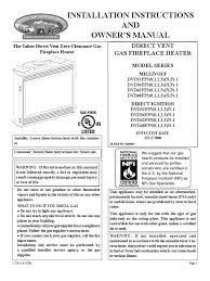 direct vent gas fireplace heater model series framing