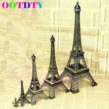 Eiffel Tower Garden Decor 2017 New Fashion Bronze Tone Paris Eiffel Tower Figurine Statue