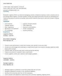 Compliance Officer Resume Sample by Sample Logistics Resume 9 Examples In Word Pdf