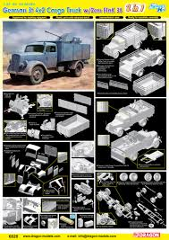 opel blitz with flak 38 german 3t 4x2 truck w 2cm flak 38 2 in 1 smart kit dragon 6828