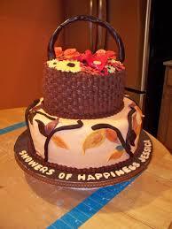 Fall Cake Decorations Fall Theme Bridal Shower Cake Cakecentral Com
