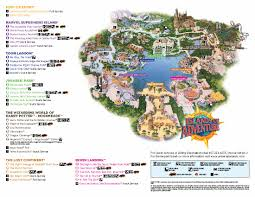 Disney World Orlando Park Map by Universal U0027s Islands Of Adventure Thrillz The Ultimate Theme