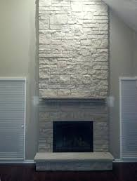 stacked stone fireplace images modern pictures white painted stone