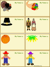 thanksgiving name tags to print enchantedlearning
