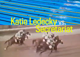 katie ledecky at the 2016 olympics vs secretariat at the 1973