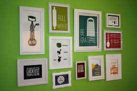 ideas for decorating kitchen walls small framed wall popular ideas for kitchen wall decor