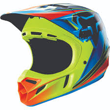 blue motocross gear new fox racing race men u0027s v4 off road motorcycle helmet 2016