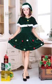 cute green christmas tree dress costume xt9729