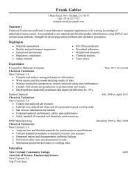 Monitor Tech Resume Manufacturing Technician Resume Free Resume Example And Writing