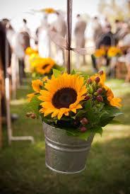 sunflower wedding bouquets u0026 centerpieces black lantern white