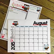 editable newsletter and calendar templates with a seasonal owl