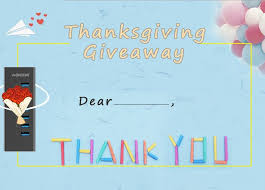giveaway thanksgiving is coming we will give away 3 free