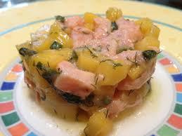 saumon cuisine fut tartare saumon mangue et aneth ô my goût