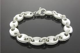 chain bracelet sterling silver images Large sterling silver anchor chain bracelet jewelry jpg