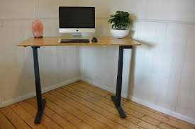 Electric Sit To Stand Desk by Premium Quality Sit Stand Desk With A Beautiful Bamboo Top