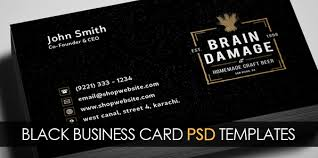 Business Card Psd Free Free Vintage Black Business Card Psd Template Freebies Graphic