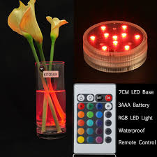 Waterproof Vase Lights Waterproof Rgb Colors Changing Led Under Water Glass Vase Light