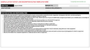 layout artist job specification layout artist job description