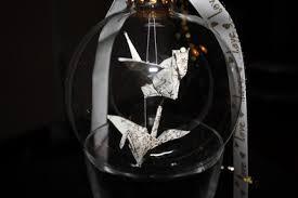 origami crane ornament paper jewelry