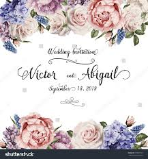 Wedding Greeting Card Greeting Card Roses Watercolor Can Be Stock Vector 378693169