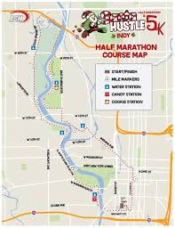 Map Indy Santa Hustle Indy 5k U0026 Half Marathon World U0027s Marathons