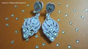 dangler earring hobby crafts quilled white dangler earrings