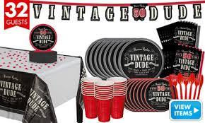 Vintage Birthday Decorations Vintage Dude 50th Birthday Party Supplies 50th Birthday Party