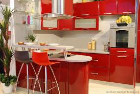 Bar Kitchen Cabinets by Kitchen Of The Day A Small Modern Kitchen With Fiery Red Cabinets